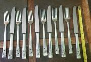 🤗 6 Sets Of C1936 Coronation New French Hollow Grille Knife And Grille Fork Pairs