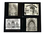 Magic Lantern Slide Lot - French Cathedrals - Reims Amiens Arles - Lot1