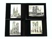 Magic Lantern Slide Lot - French Cathedrals - Chartres Amiens Notre Dame - Lot2