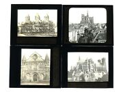 Magic Lantern Slide Lot - French Cathedrals - Cluny Amiens Reims - Lot4