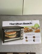 New In Box Hamilton Beach Countertop Oven With Convection And Rotisserie 31108