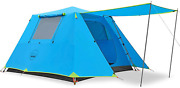 Kazoo Family Camping Tent Large Waterproof Pop Up Tents 4/6 Person Room Cabin Te