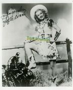 Dale Evans - Cowgirl And Wife Of 'roy Rogers' - Signed 8x10 Bandw Photo W/coa
