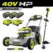 Ryobi Mower And String Trimmer 40v 21 In Walk Behind Dual-blade Batteries