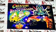 Ricou Browning Autographed 12x20 Creature From The Black Lagoon Pinball Photo
