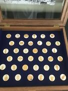 Egyptian Museum Cairo Complete Set Of Goldplated Sterling Rounds Custom Display
