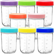 Youngever Glass Baby Food Storage, 8 Ounce Baby Food Glass Containers With Lids,