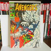 Rare Vintage 1969 Marvel Comic Book The Avengers 61 First Quinje