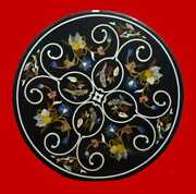 30and039and039 Marble Inlay Table Top Pietra Dura Home Garden Coffee Decor Antique B61