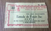 R13739 Ticket Real Madrid Santos Di Stefano First Match Pele In Spain17-6-1959