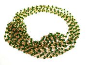 300 Feet Chrome Diopside 3-4mm Hydro Rosary Beaded Chain 24k Gold Plated Wire X2