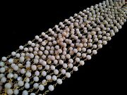 300feet Pink Opal Hydro 5.5-6mm Rosary Beaded Chain 24k Gold Plated Wire Wrapped
