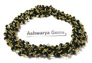 300 Feet Black Spinel 3-4mm Rosary Beaded Chain 24k Gold Plated Wirehydro S5x