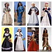 Vtg Barbie 1995 1996 1997 American Stories Collection Complete Lot Of 8