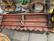 French Gothic Shelf Hand Carved Plate Rack