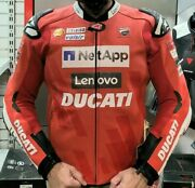 Ducati Gp Team Replica 19 Leather Motorcycle Jacket Size 46/58 @ Wb