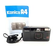Konica A4 35mm Film Camera W/ Manual Tested And Works Please Read Description