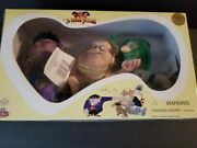 Three Stooges Set Of 3 Harem Dolls Larry Curly And Moe 1997 Toy Expo Spumco