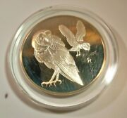 Franklin Mint Roberts Birds 1971 .925 Sterling Silver 25 Barn Owls Proof Coin