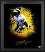 Charles Woodson Michigan Wolverines Signed 20 X 24 In Focus Photo Framed