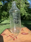 Vintage Pepsi-cola Bottle - One Pint - Clear Embossed Rare