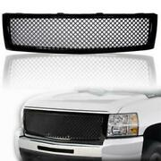 New Black Abs Front Upper Bumper Mesh Grille For 07-13 Chevy Silverado 1500