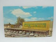 Vintage 1970's Cars Ted And Bill Hustead's Wall Drug Store South Dakota Postcard