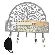 Mail And Key Holder For Wall - Wall Mounted Decorative Mail And Key Rack Silver