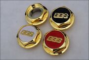 Bbs Rs Gold Hex Nuts Rc Center Caps 15 16 17 18 19 Inch Small Thread 2.28in Vw