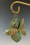 Jay Strongwater Ornament Kalina Fish Version 2 Crystals Mint In Box