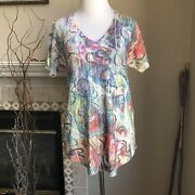 Nwot Inoah T Shirt Top Small S Whimsical Art To Wear Usa New