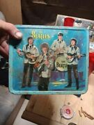 Rare To Find Old Beatles Antique Lunch Box Without Thermos