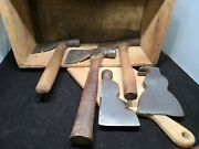Vintage Axe Hatchet Lot Plumb, Vaughn Chicago And Craftsman 5 Total And Box All Usa