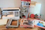 Husqvarna Viking Designer 1 Sewing Machine Embroidery Low Hours Arm Accessories