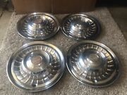Set Of 4 58-59 Cadillac Deville Series 62 Fleetwood 15 Wheel Covers Hubcaps