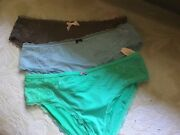 Victoria's Secret Taupe, Blue, Mint Hipster Panties L Nwt