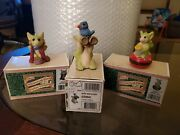 Lot Pocket Dragons Dressing Up Bird Watcher Sewing Box Whimsical World In Boxes