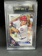 2016 Topps Trea Turner Rookie Rc Bgs 10 Black Label Pop2 Dodgers Potential Ws