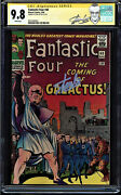 Fantastic Four 48 9.8 White Ss Stan Lee 1st Silver Surfer And Galactus 0351036003
