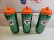 Lot Of 3 Brand New Official Gatorade 32 Fl Oz Squeeze Water Bottle Sports Drink
