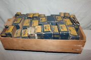 Lot Of 32 Various New Old Stock Moog Automobile Parts In A Wood Crate