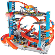Hot Wheels City Ultimate Garage With Shark Attack Car Toy Play Set Kids Gift New