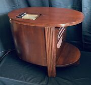 Antique 1938 Philco Chair-side Radio Table Model 38 14-cs Rare Only 8600 Made