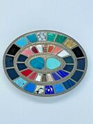 Johnson And Held Oval Inlay Belt Buckle Handcrafted In The Us