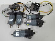 Lot Of Multiple Atlas Copco Oil Filters Andamp Electric Drains