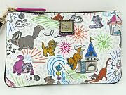 Disney Dooney And And Bourke Sketch Cats Zip Wallet Wristlet Pouch Yzma Toulouse A