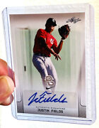 2017 Leaf Perfect Game Justin Fields All American Nikeex. Condition Gem-mint10