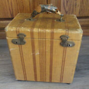 """Vintage 78 Rpm Record Storage Carrying Case For 10"""" Vinyl Records With Index"""