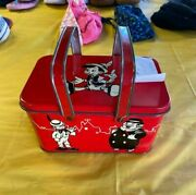 Rare Antique 1940andrsquos Disney Lunch Box Nice Collectible