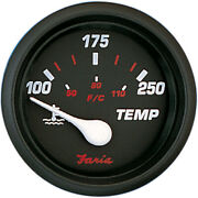 Faria Beede Instruments 14604 Faria Professional Red 2 Water Temp Gauge 100...